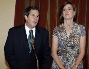 U.S. Senator David Vitter, R-La., and wife Wendy (who looks like she just saw the Ghost of Deborah Jeane)