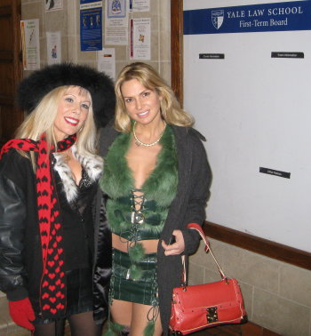 With Savanna Samson at the Yale Law School