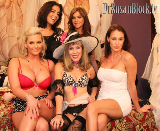 With Penthouse Pets Phoenix Marie, Isis Taylor, McKenzee Miles and Riley Keely. Photo: Mike C