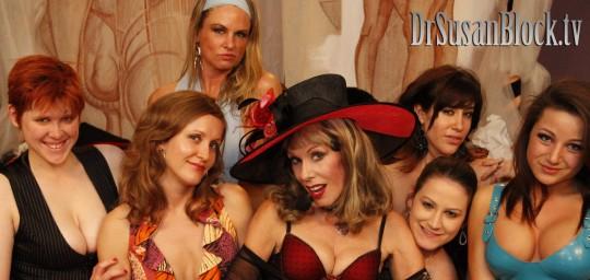 Lily Cade, Dr. Chauntelle, Amanda Blow, Dr. Susan Block, Addie Juniper, Sasha Sweet, Charity Bangs. Photo: Mike C