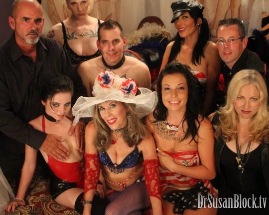 With Ian Rath, Jessi Palmer, Ivy Thornton, Slut Bottom Chris, Zoey Holloway, Aria Aspen, Mistress D Severe, Jimmy Broadway.  Photo: Felix Foto
