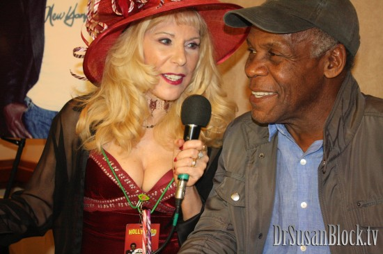With Danny Glover.