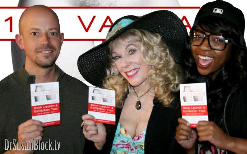 101 Vagina author Philip Werner, Dr. Susan Block, Trixie Plenty.  Photo: L'Erotique
