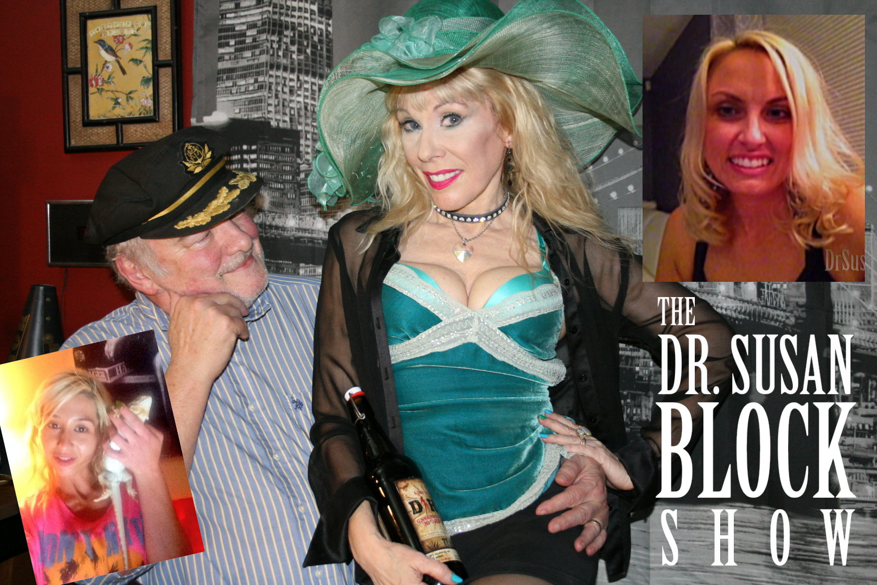 Catherine Imperio, Ricochet, Capt'n Max, Dr. Suzy (with Dirty Tequila) and Dr. Sarah Russo. Main Photo: L'Erotique
