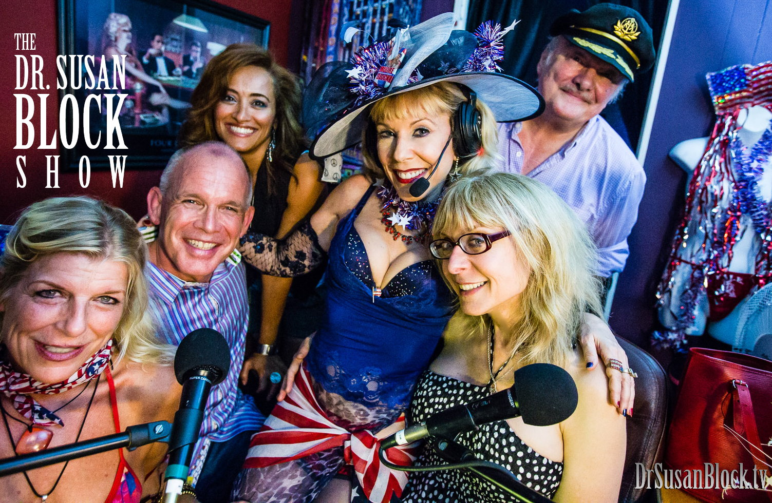 Cici Cummins, Danny O'Neill, Susan from Yemen, Dr. Susan Block, Nina Hartley, Capt'n Max. Photo: Jux Lii