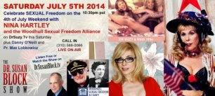 NINA HARTLEY & Woodhull Sexual Freedom Foundation on DrSuzy.Tv this Freedom Weekend!