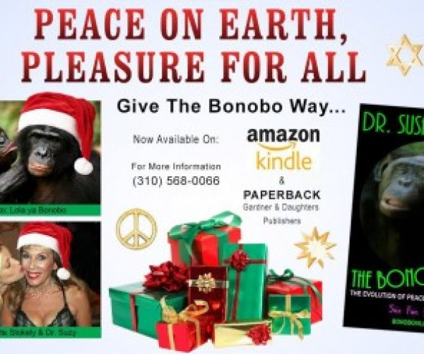 Sex-Positive in the Trumpocalypse! Sploshgasms! Give The Bonobo Way for the Holidays & Give Yourself the Gift of Erotic Hypnosis – as seen on The Doctors!