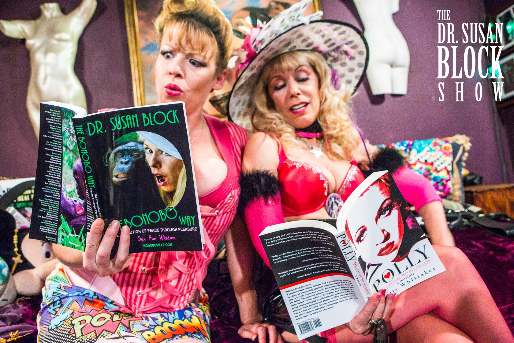 Heavy Reading: Polly Superstar & Dr. Suzy. Photo: JuxLii