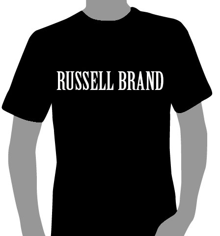 Now available in our shopping mall: The Russell Brand T (sorry, sold out).