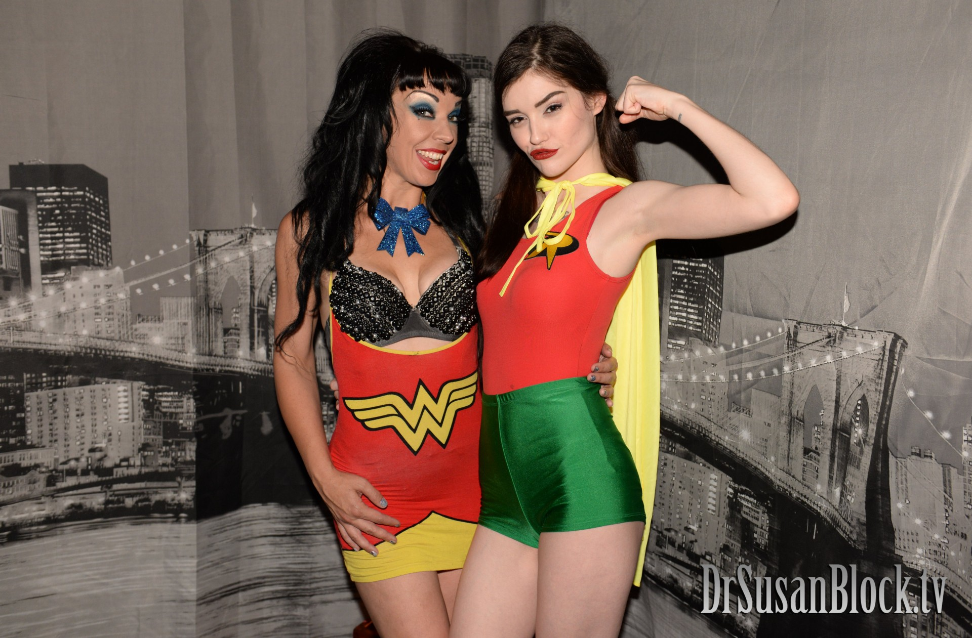 Wonder Woman and Robin fly from Gotham City to Bonoboville to save me from evil showerheads. Photo: Tim Hunter