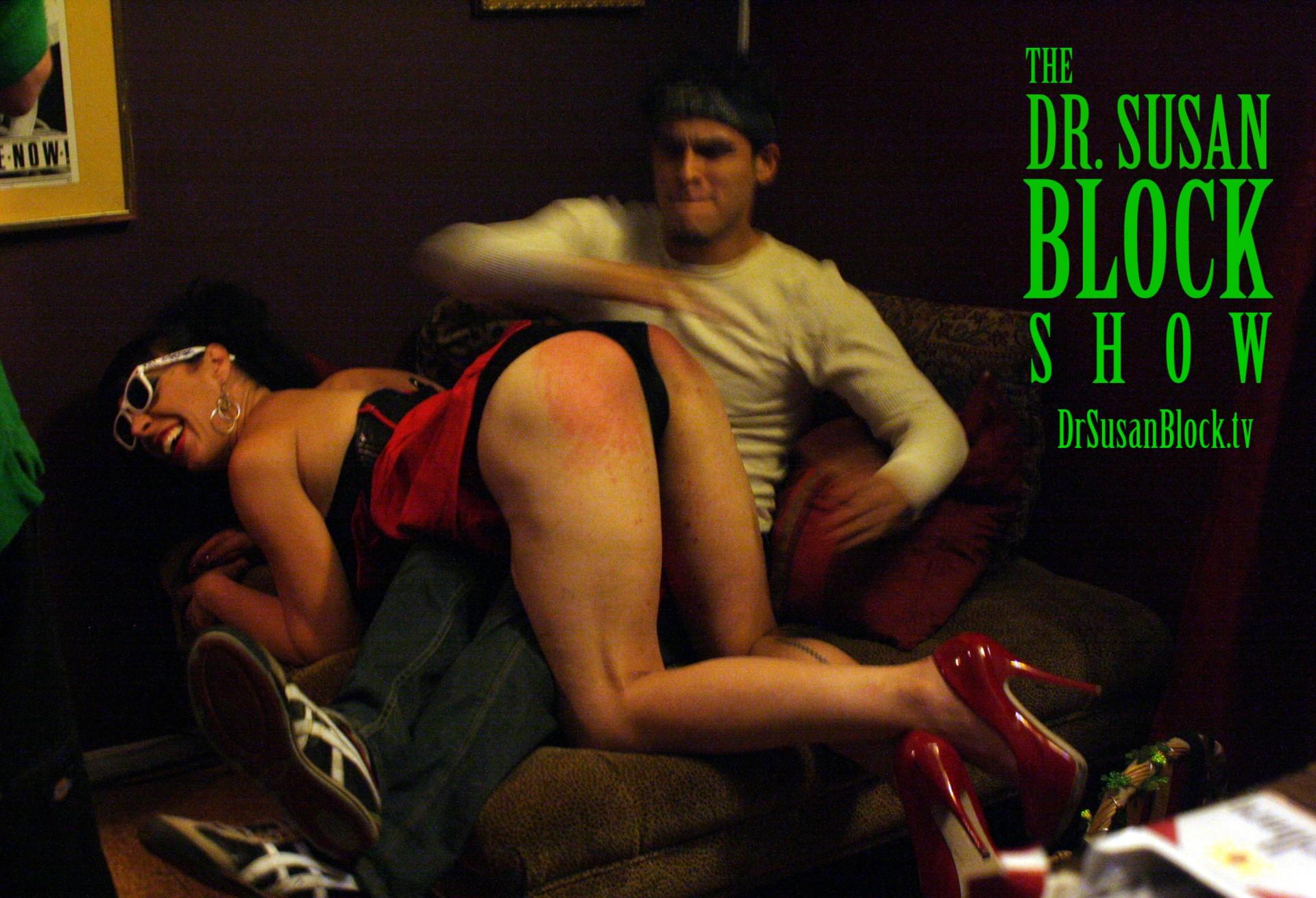 Hollywood Jake gives his birthday spanking to Biz. Photo: Unscene Abe