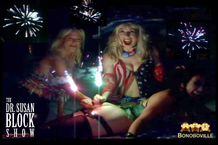ORGASMS for the EYE on The 4th of JULY! Fireworks Over Bonoboville & a Sparkler Up the Butt for America's Birthday!