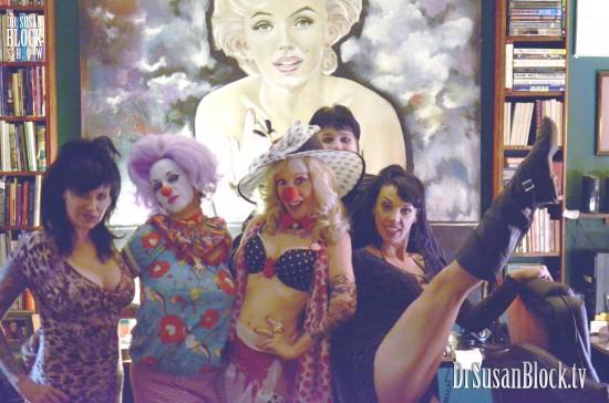 Under Saint Marilyn with Clownalyn & friends. Photo: Kevin Faircourt