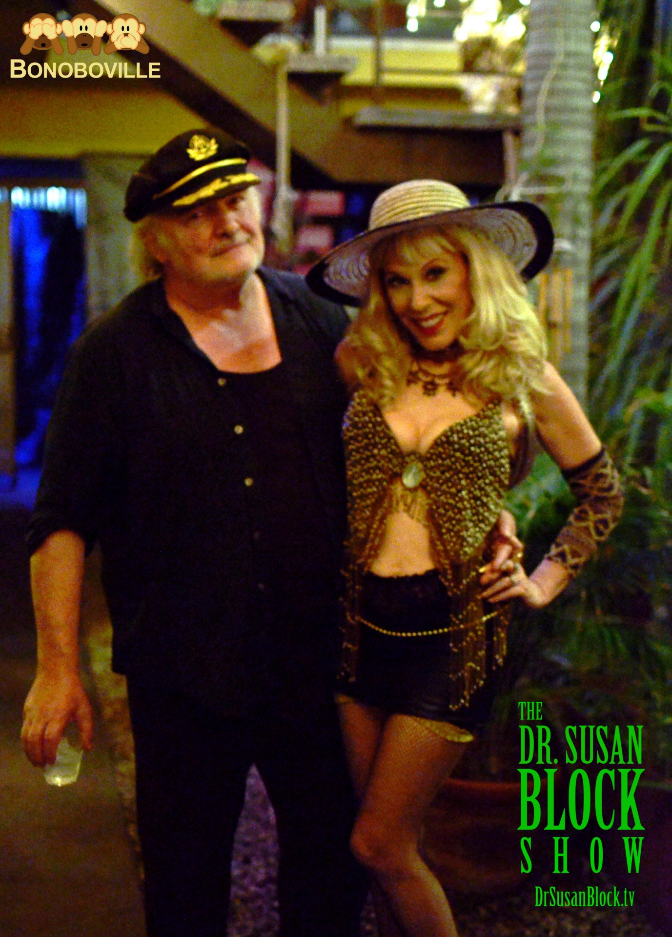 With Capt'n Max in the Garden of Bonoboville. Photo: Kevin Faircourt