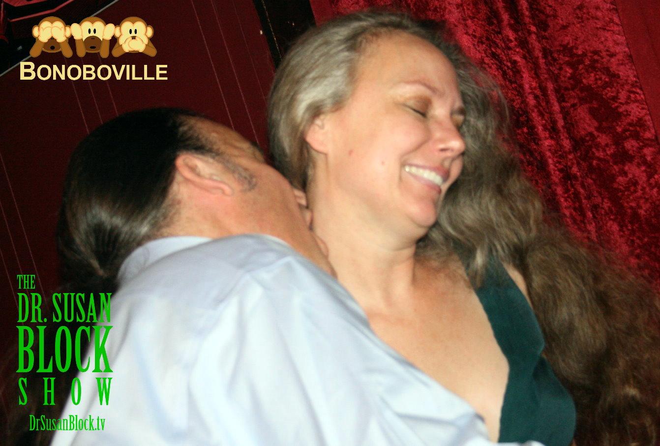 Michaels & Johnson take Bonoboville Communion. Photo: L'Erotique