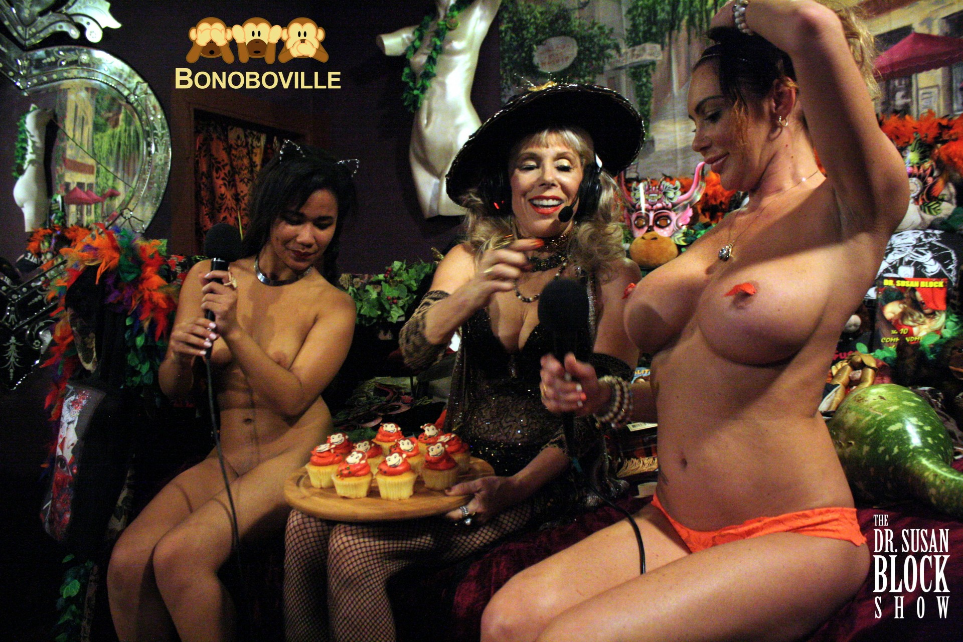 Bonoboville Communion with cupcake frosting for Loni who can't drink! Photo: Ono Bo
