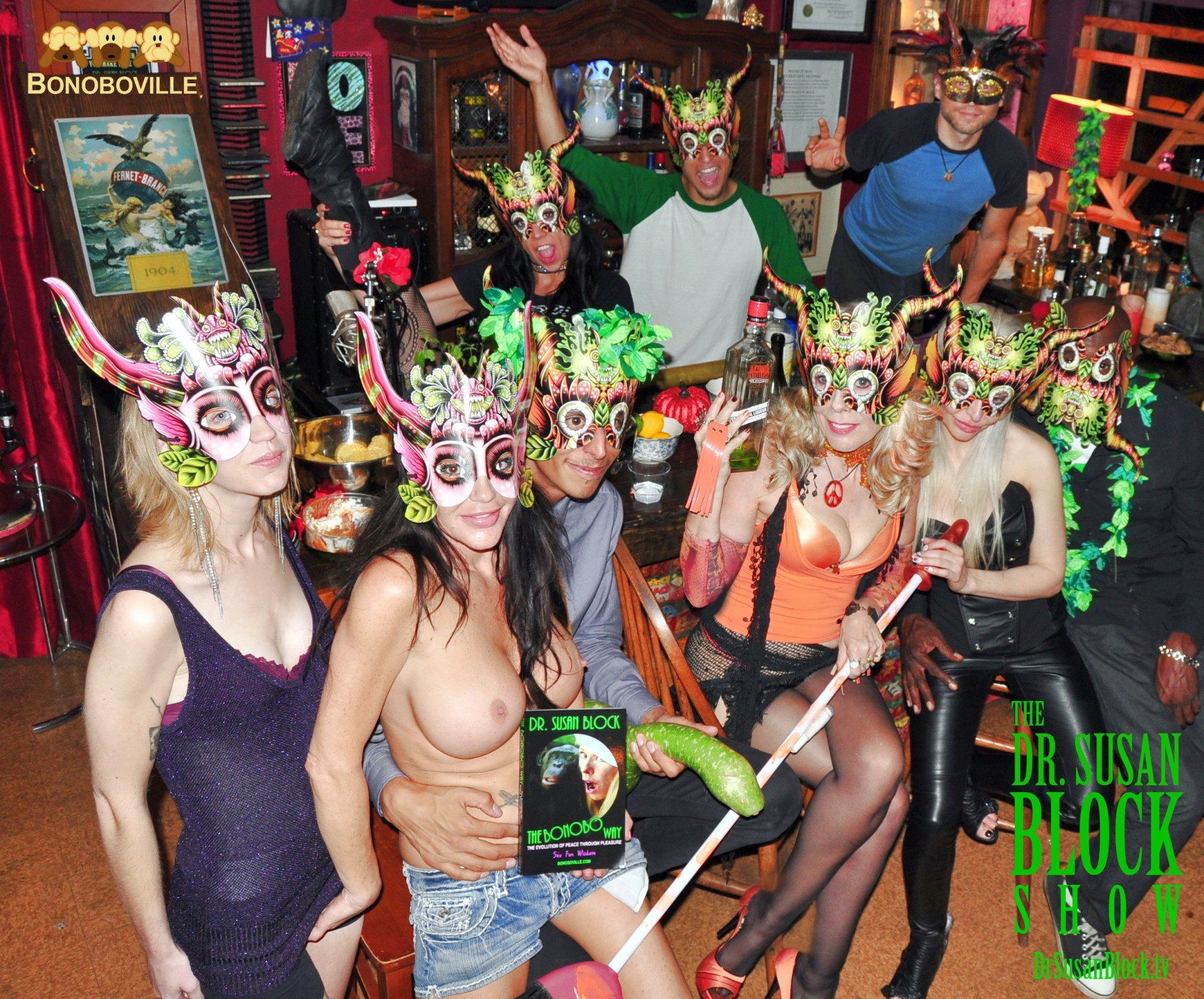 The Agw Masked Witches of Bonoboville. Photo: Ringo