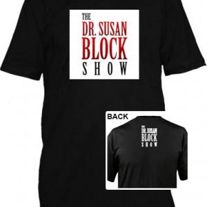 Dr-Susan-Block-Show-Black-T-Shirt-Display