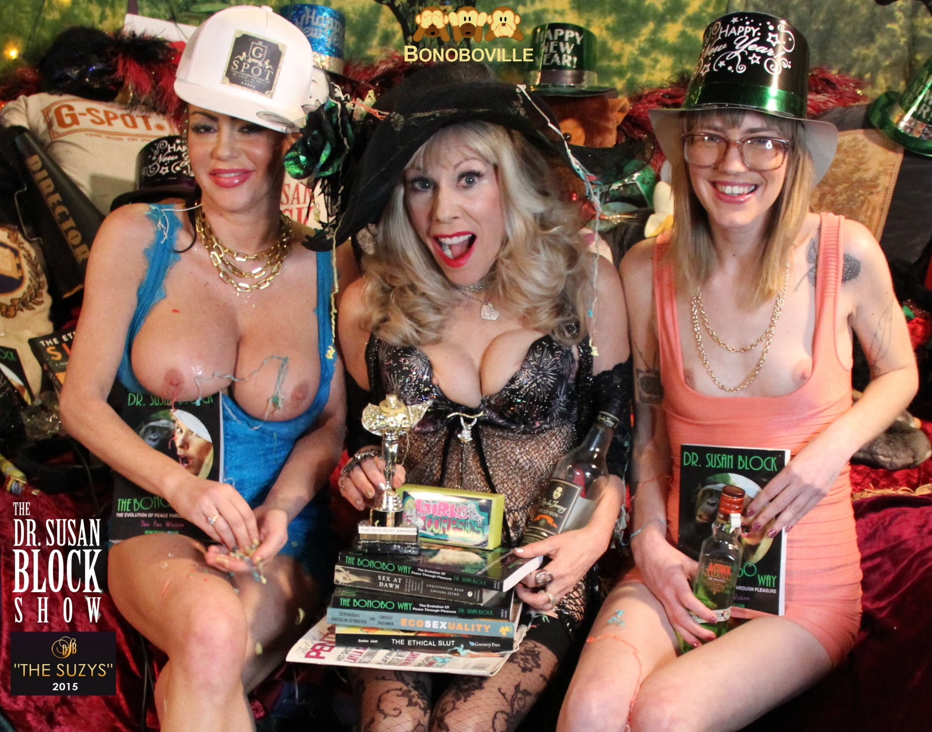 The SUZY Awards: Freeing the Nipple with books & swag of the some the winners. Photo: Unscene Abe