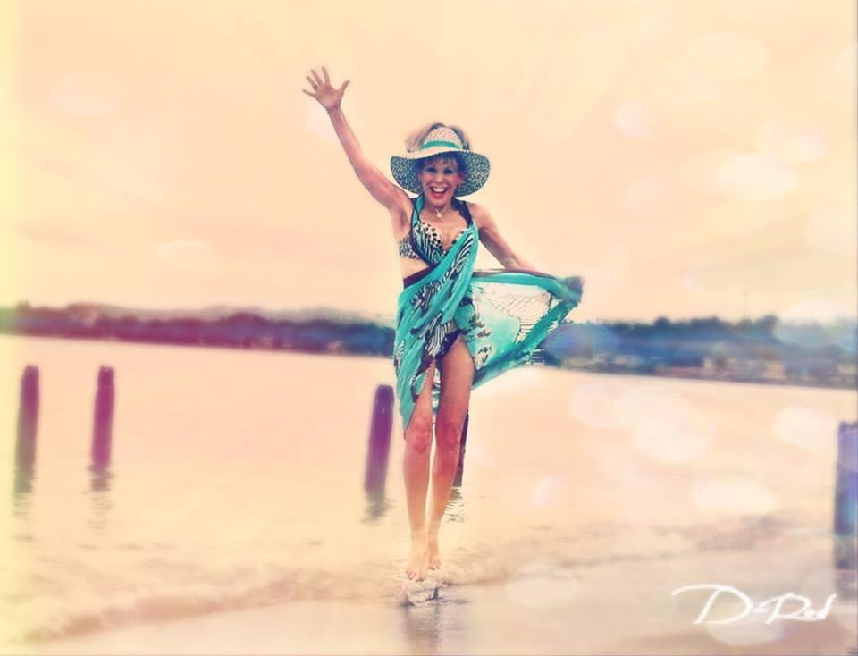 Raising my ESQ at Playa Azul. Photo: Destiny Lee Rodriguez