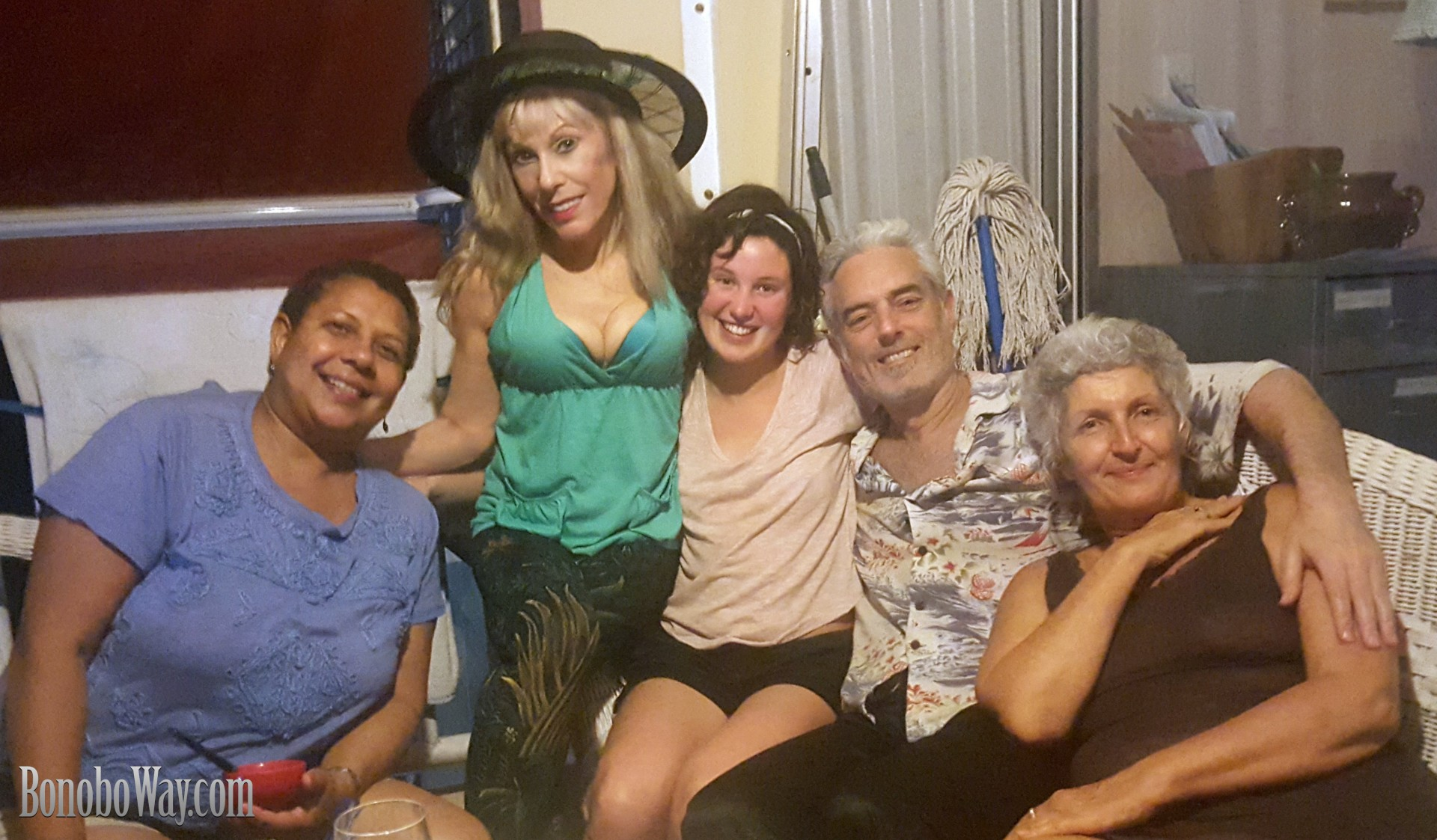 Jet-lagged but happy to be with Maria, Emily, Taber and SerenaGaia in Mayaguez. Photo: Max