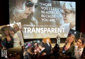 "Main Photo: Norman Lear introduces ""Transparent"" screening at the DGA Theater. Inserts: Dr. Suzy, Judith Light, Luzer Twersky, Jill Soloway, Jeffrey Tambor, Amy Landecker."