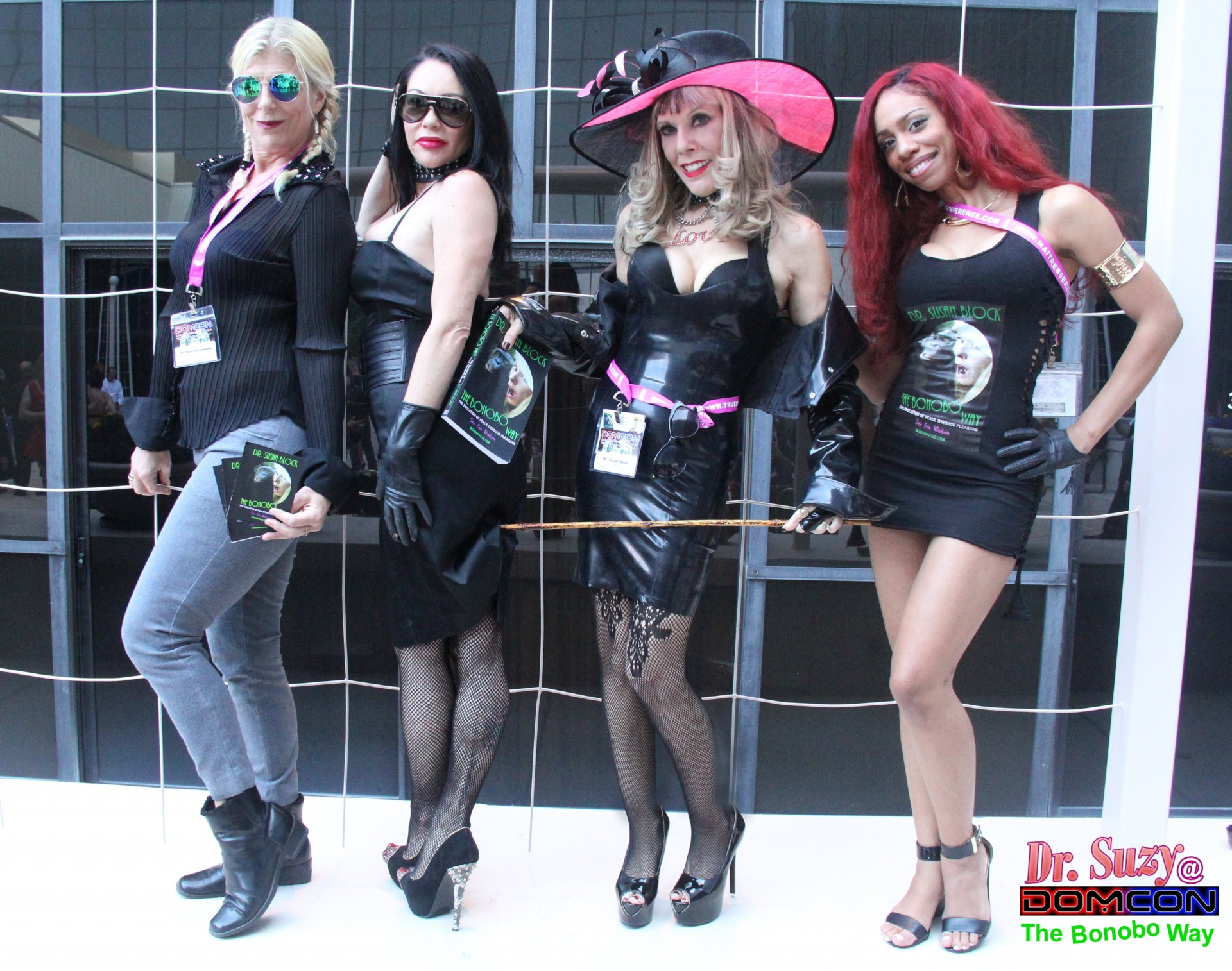 Book-Spanking Mistresses of Bonoboville at DomCon 2016. Photo: Unscene Abe