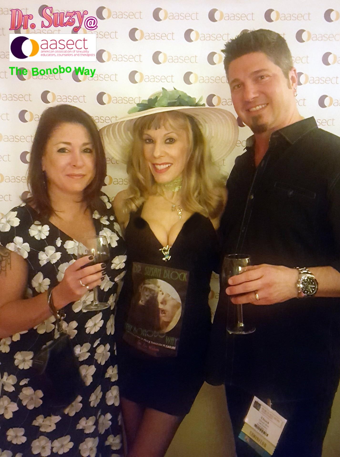 With Cute CalExotics Couple, Joann & Chuck Bird. #GoBonobos! Go AASECT!