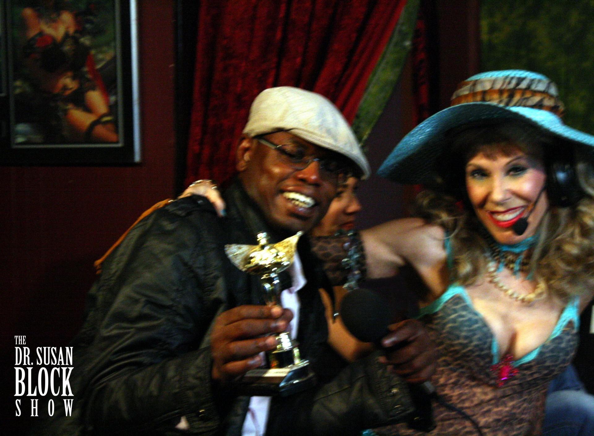 "DrSuzy.Tv Award Winner, ""Most Intoxicated"" 2012, Daryl Wright. Photo: London"