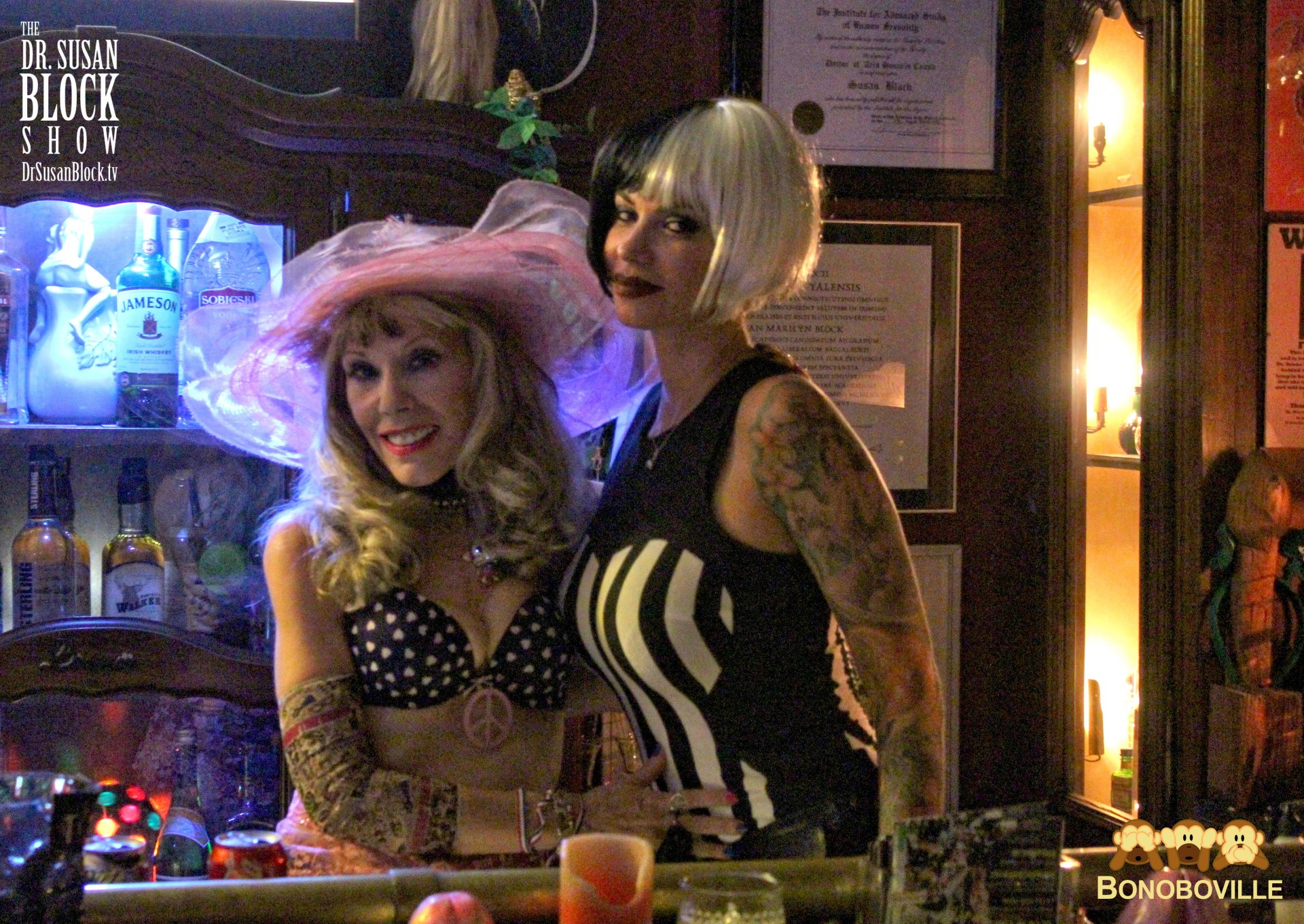 With Shannon, Mistress of the Bonoboville Bar. Photo: Sarah Bella