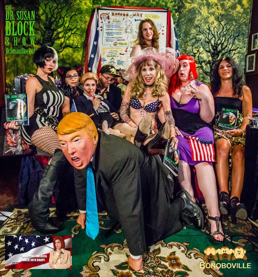 Mistress Tara for President & FemDom Politics the Bonobo Way on DrSuzy.Tv
