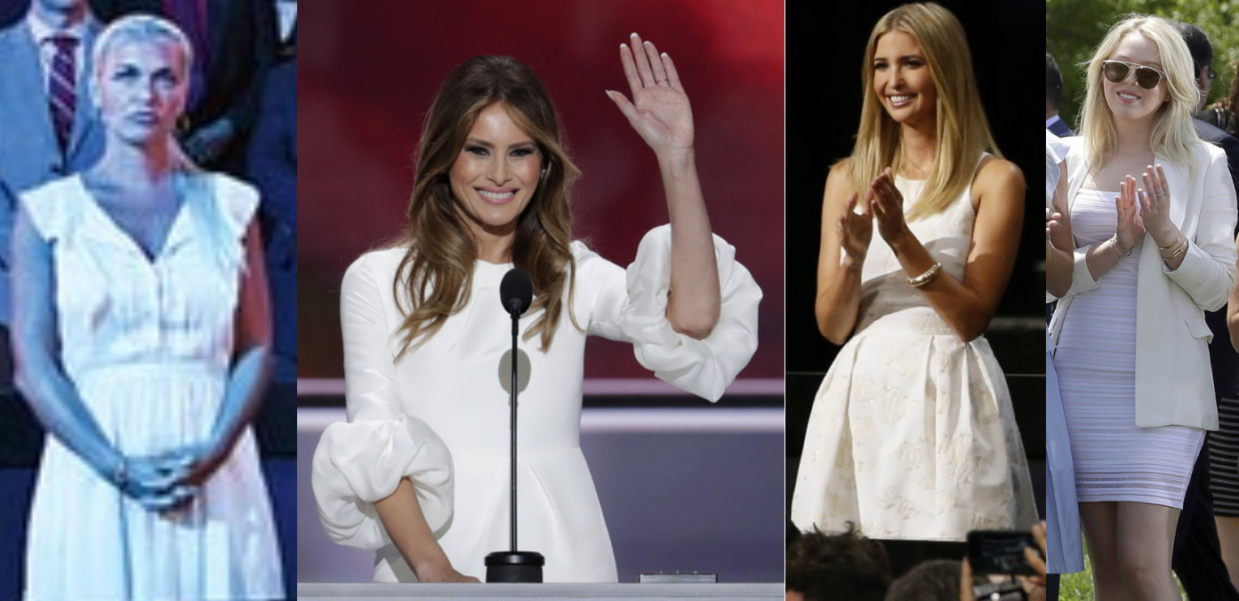 Trump Girls in White