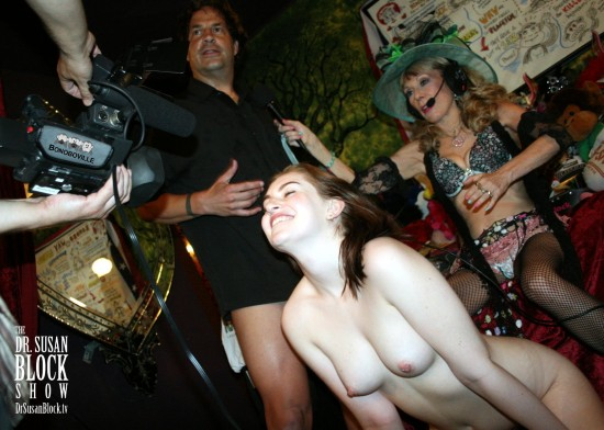 ErotiqueTV CEO Eric John (post-climax) & Maya Kendrick on DrSuzy.Tv. Photo: L'Erotqiue