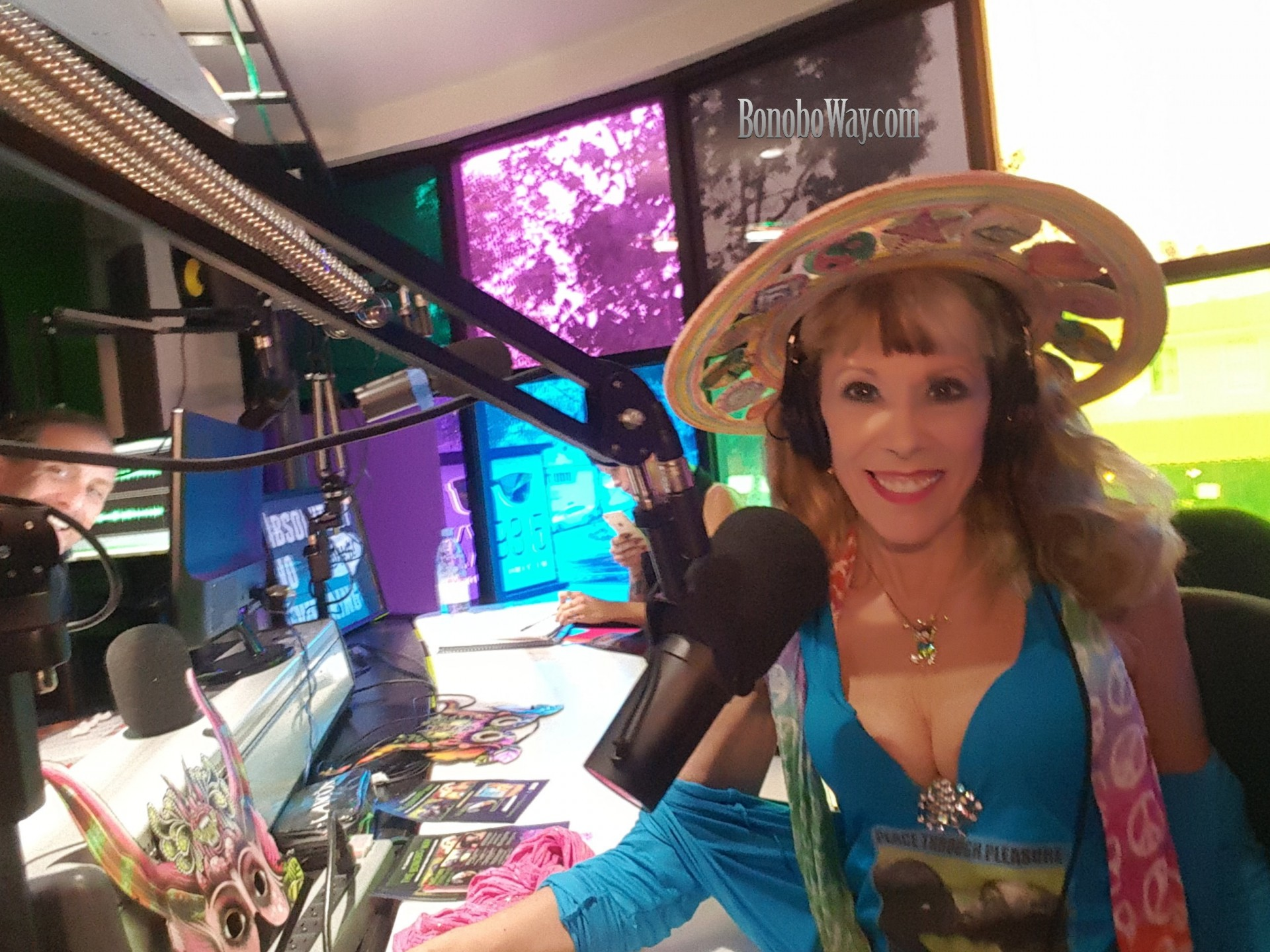 On my trippy terrific Inner Journey with Greg Friedman on KX 93.5 FM, Laguna Beach.