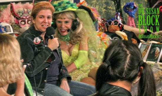 "U.S. Presidential Candidate Mistress Tara Indiana, dressed down for ""clearing brush,"" on DrSuzy.Tv. Photo: TeddyBoy French"