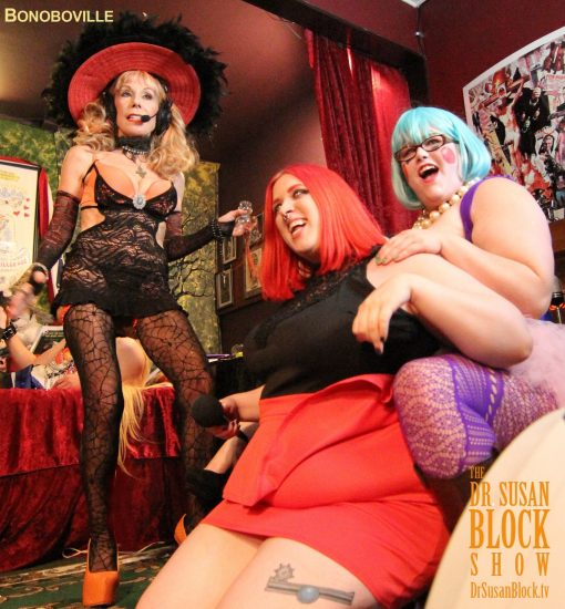 Miss Freudian Slit & Cricket Rose survive Waterboarding the Bonobo Way. Photo: Zane Bono