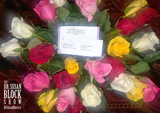 Thank You, Mistress Porcelain Midnight!, for these Kink Month ROSES ... almost as beautiful as You!