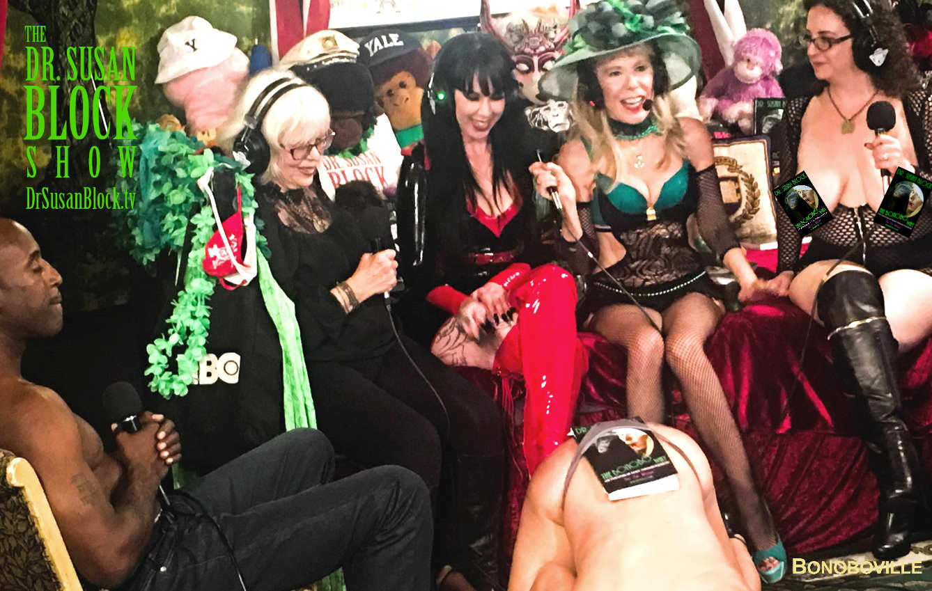 Bonobo Way Book-Spanking at Kink Month on DrSuzy.Tv with Mistress Porcelain, Sheree Rose, Rhiannon Aaron, Ikkor & Jacquie Blu.  Photo: Jux Lii