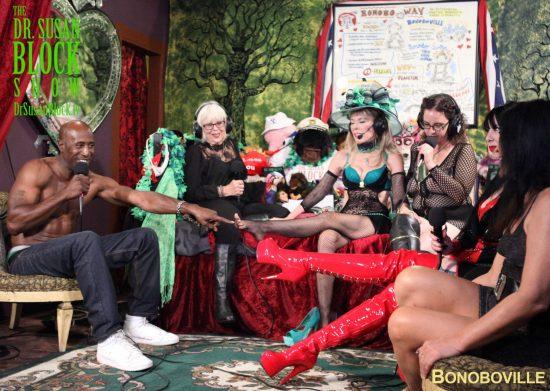 Ikkor on foot play for Mel Magazine's Bonoboville shoot. Photo: Heberto Ferrer