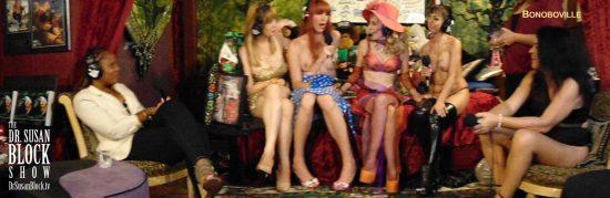 Goddess Ilain & Lady Miguire explore kinks on DrSuzy.Tv. Photo: Sarah Bella