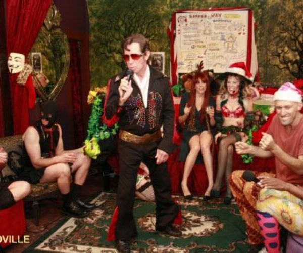Naughty Footsie Solstice with Elvis + Birthday Madam RavenRae, the Bonobo Way!
