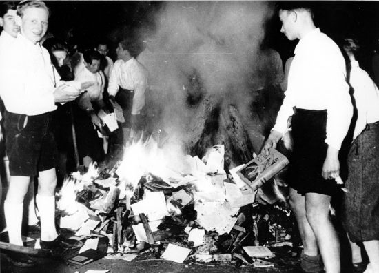 Burning the books of the Dr. Magnus Hirschfeld Institute
