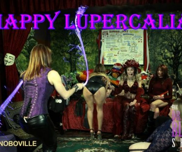 Fake News Valentine's Day & Real Fun Lupercalia Coming Up in Bonoboville + Dr. Suzy LIVE on location at the Cupcake Theatre with Golden Age PornStars!