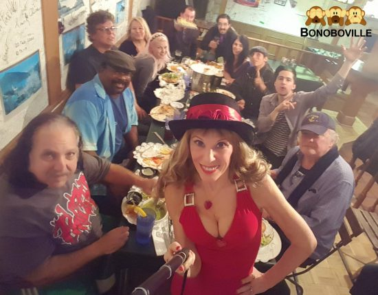 Mayor Ron Jeremy and Bonoboville Valentine's Eve Dinner at the Waterfront Cafe in Venice Beach. selife