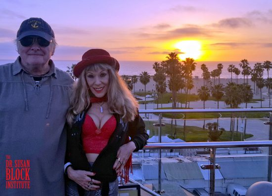 Valentine's Day 2017: Sunset on Venice Beach, California from the Rooftop of the Erwin Hotel. Photo taken by random Good Samaritan