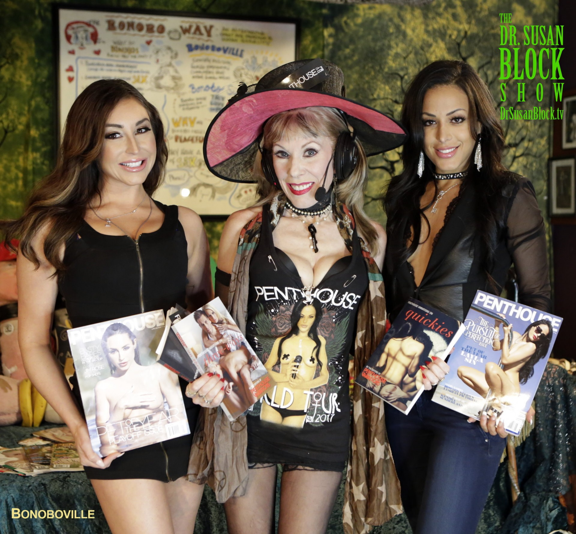 Penthouse Pets LAYLA SIN & CHRISTIANA CINN bowl over Bonoboville for Penthouse Variations/Cleis Press Erotica ❤