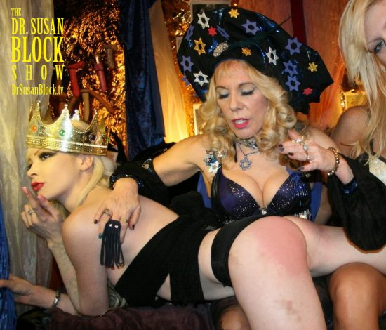 Amor Hilton gets a Purim Spanking in the King's Harem. Photo: L'erotique