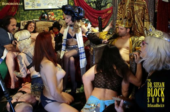 Purim Orgy gets underway. Hotter pix Backstage! Photo: B Natural