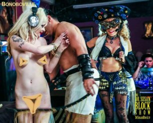 Purim Bacchanal this Saturday Night,  Dr. Suzy's Story of Esther's Weapons of Mass Seduction in Elephant Journal, and Seduction Therapy Anytime ❤️