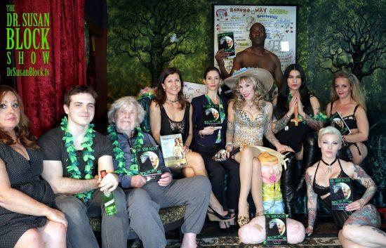 Janelle Hopkins, Derek Wilder, John Clark, Miss Molly, Madame Margherite, Dr. Suzy, Mistress Eva Cruz, Mistress Liz, Gypsy, Ikkor. Photo: Louis Carrasco
